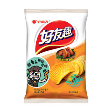 Orion Potato Chips BBQ Wing 75g