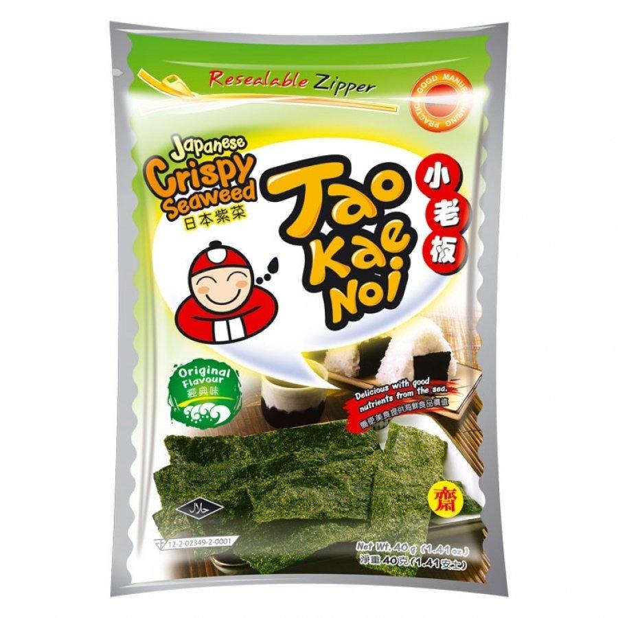 小老板脆紫菜原味 Taokaenoi Crispy Seaweed Snacks Original 36g