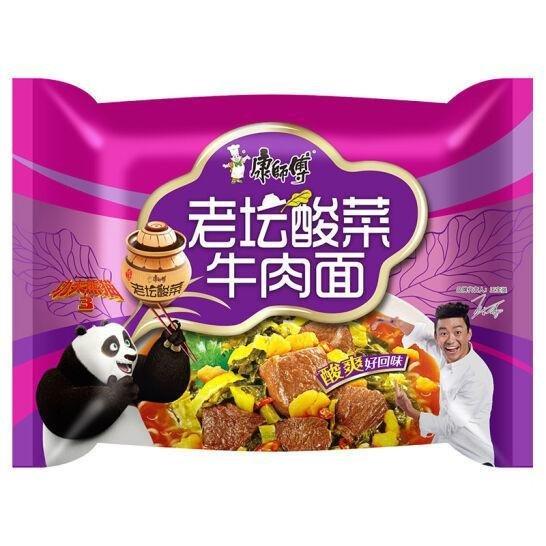 Master Kong Pickled Beef Noodle 117g