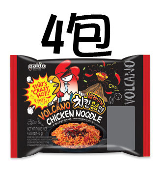 八道火山辣鸡铁板炒面四连包 Paldo Volcano Chicken Noodle 4 packs
