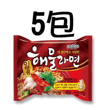 八道御膳章鱼海鲜拉面五连包 Paldo Seafood Noodle Soup 5 packs