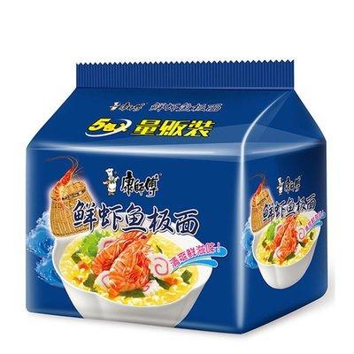 康师傅鲜虾鱼板面五连包 Master Kong Seafood Noodle 5 packs 475g
