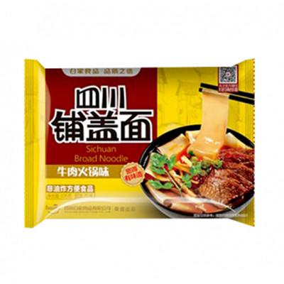 BJ Sichuan Broad Noodles -Beef Flavour 120g