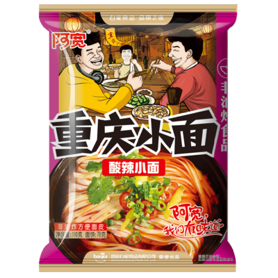 BJ Chongqing Noodle -Sour & Spicy 110g