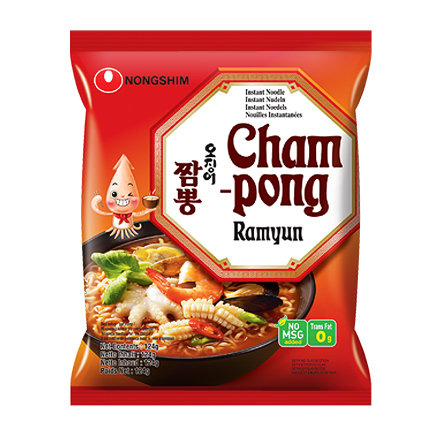 Nongshim Champong Ramyun Noodle 124g