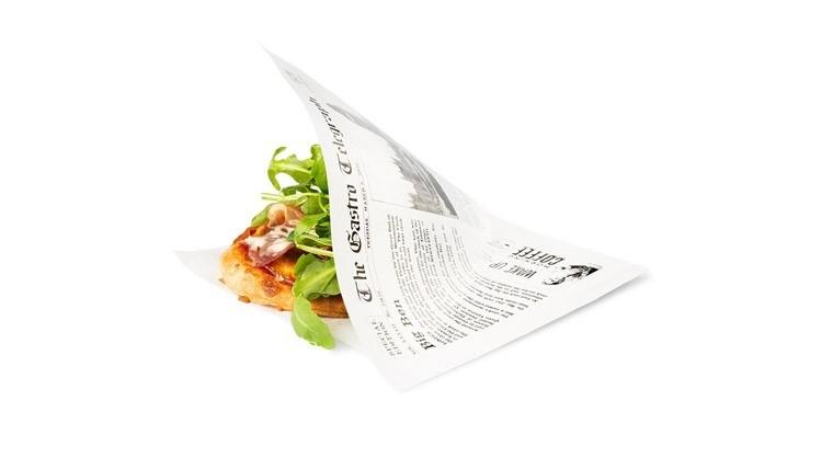 """Vetvrij papieren zakje """"Krant"""" 170x170mm, 300stuks"""