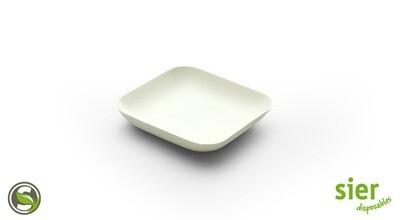Bagastro bord vierkant 8cm, 40 stuks