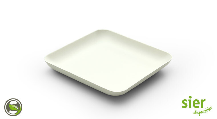 Bagastro bord vierkant 12cm, 480 stuks