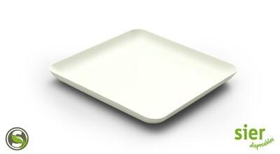 Bagastro bord vierkant 16cm, 40 stuks