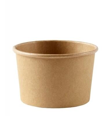 Kraftpapieren soepbeker 12oz/350ml, verpakt per 500 stuks