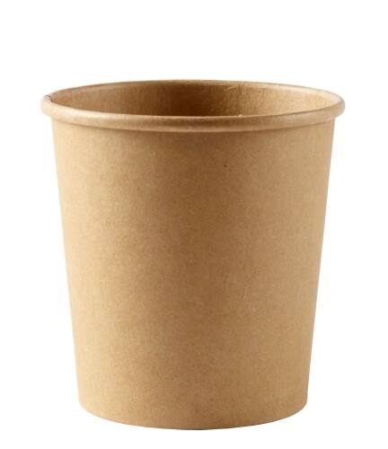 Kraftpapieren soepbeker 8oz/240ml, verpakt per 500 stuks