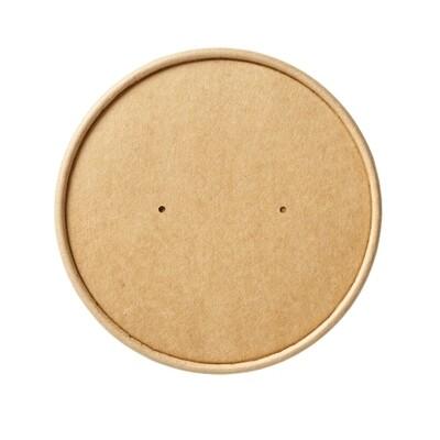 Deksel 98mm voor kraftpapieren soepbeker  voor 8,12 & 16oz, verpakt per 500 stuks