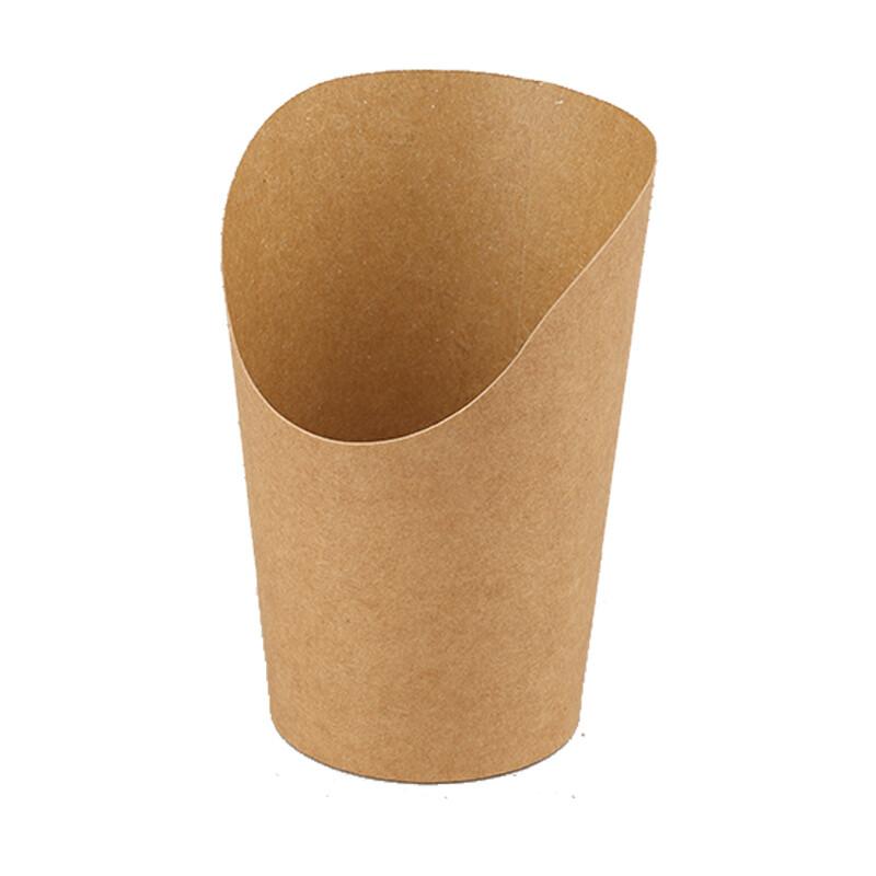 Kraftpapieren wrap cup 13cm, verpakt per 1000 stuks.