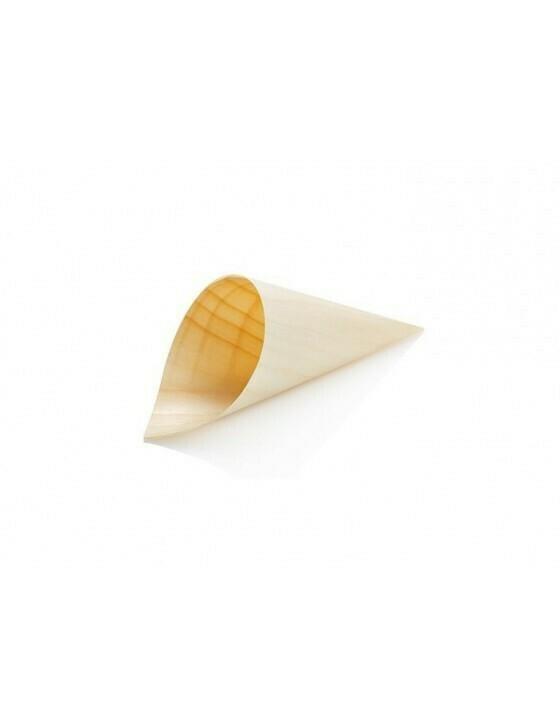 Houtpapier cone 8 cm Verpakt per 1000 stuks