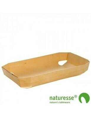 FSC® houten bakvorm geweven 750ml/245x140x40mm Verpakt per 25 stuks