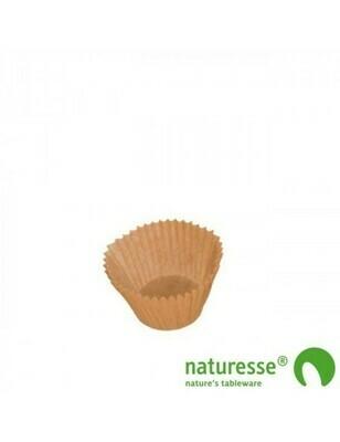 Bakpapier bruin, voor bakvorm 75ml, verpakt per 50 stuks