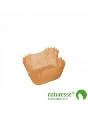 Bakpapier bruin, voor bakvorm 125/150ml, verpakt per 50 stuks
