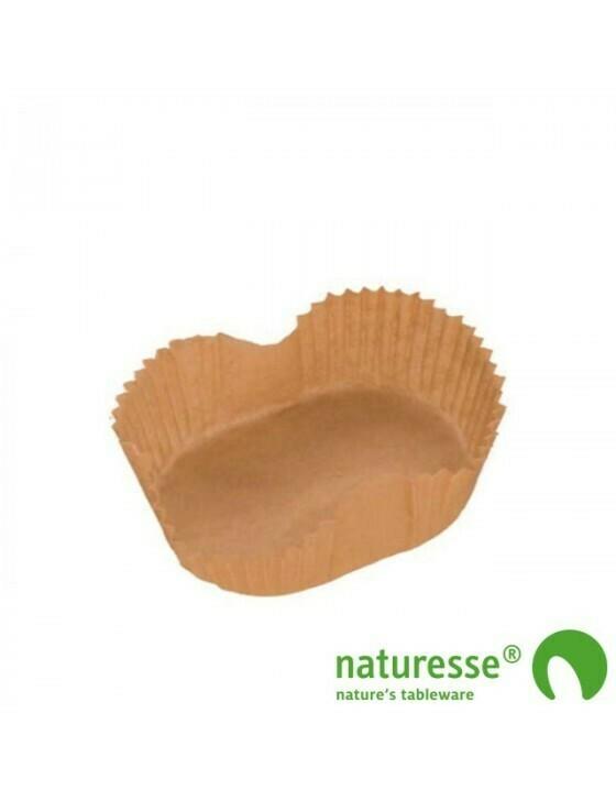 Bakpapier bruin, voor bakvorm 700/750ml, verpakt per 50 stuks