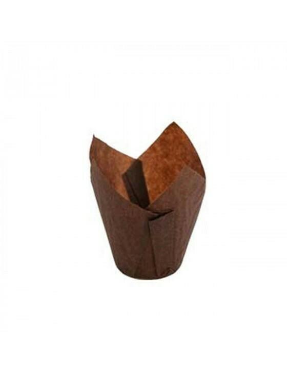 Bakpapier bruin muffin 150ml/15x15cm/5cm Ø Verpakt per 1000 stuks