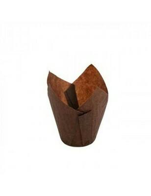 Bakpapier bruin muffin 150ml/15x15cm/5cm Ø Verpakt per 125 stuks