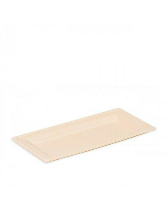 """Bagasse bord """"Karo"""" 260x130x15mm bruin Verpakt per 50 stuks"""