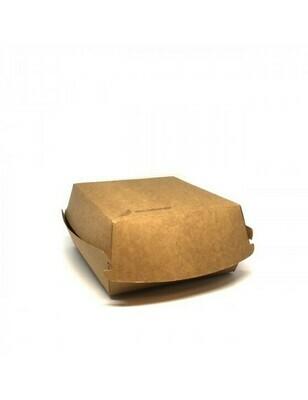 FSC® kraft hamburgerbox 116x120x70mm Verpakt per 100 stuks
