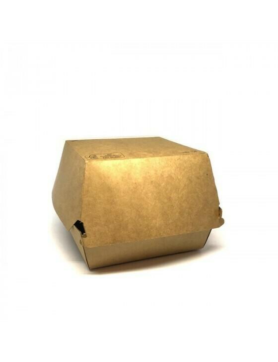 FSC® kraft hamburgerbox 120x120x100mm Verpakt per 600 stuks