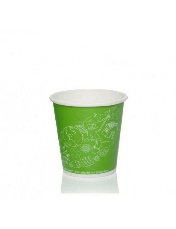 FSC® karton/PLA koffiebeker 7oz/72mmØ Leaf Green Verpakt per 2000 stuks