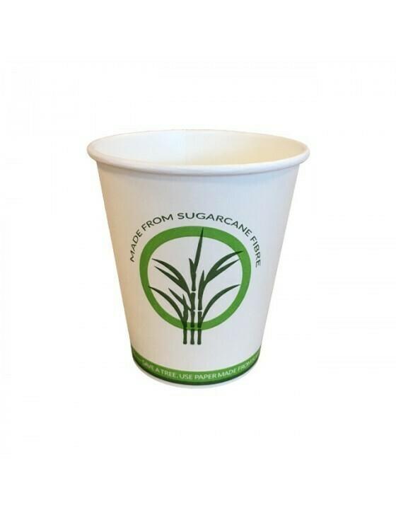 Bagasse/PLA koffiebeker 8oz/240ml/80mm Ø Verpakt per 2000 stuks