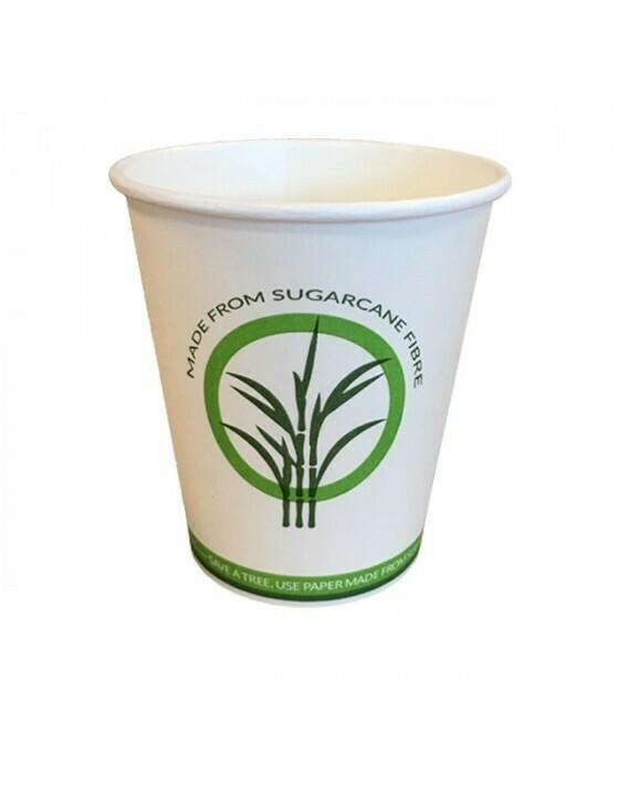 Bagasse/PLA koffiebeker 12oz/360ml/90mm Ø Verpakt per 50 stuks