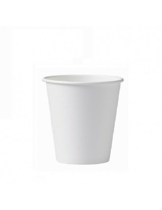 Karton/PLA koffiebeker 8oz/240ml/80mm Ø wit Verpakt per 1000 stuks