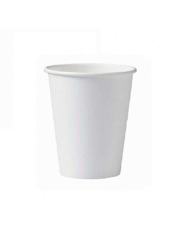 Karton/PLA koffiebeker 12oz/360ml/90mm Ø wit Verpakt per 50 stuks