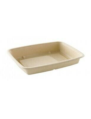 Bagasse box 600ml/227x165x28mm bruin Verpakt 300 stuks