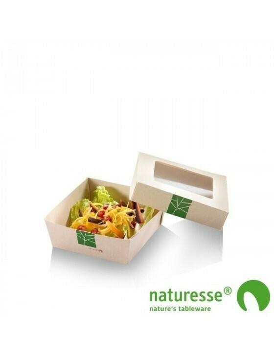 Paperwise saladebakje 350ml/115x115x40mm Verpakt per 250 stuks