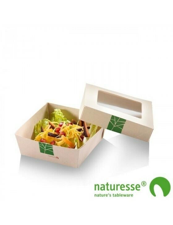 Paperwise saladebakje 1000ml/225x155x50mm Verpakt per 250 stuks