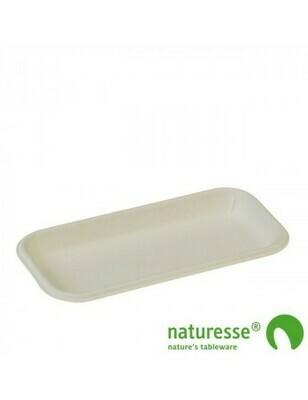 Bagasse fruittray wit 180x90x17mm 3506 Verpakt per 1000 stuks