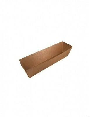 FSC® kraft/PLA coated snackbakje 114x39x35mm A5 Verpakt per 1000 stuks