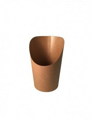 FSC® kraft/PLA coated scoop cup 60mm Ø x 118mm Verpakt per 50 stuks