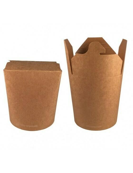 FSC® kraft/PLA noodle box 780ml/95mmØx97mm Verpakt per 50 stuks
