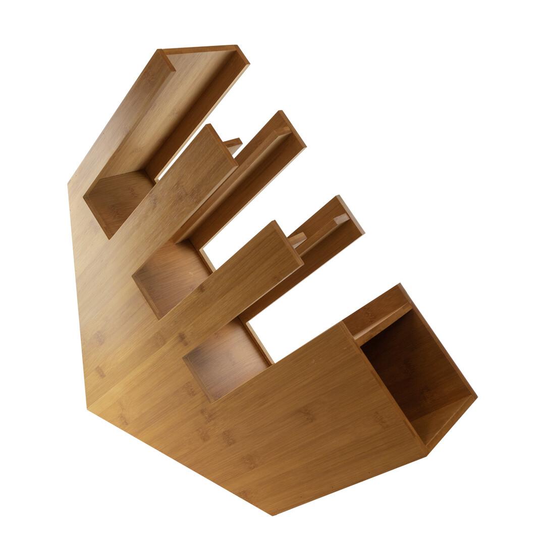 Bamboe organizer bekers/deksels/rietjes 14x50x50cm, verpakt per stuk