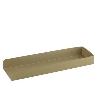FSC® kraft/PLA panini tray 280x80x30mm Verpakt per 50 stuks