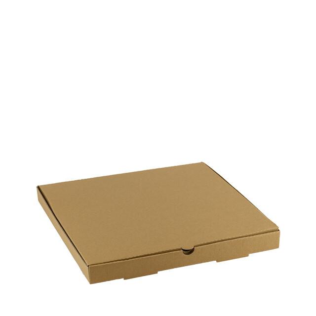Kraft pizza doos 36x36x4cm onbedrukt, verpakt per 100 stuks
