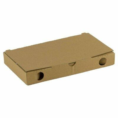 Kraft pizza slice doosje 22x12x3cm blanco, verpakt per 200 stuks