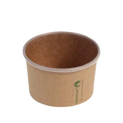 Kraft/PLA foodcontainer 3oz/90ml/75mm Ø x 45mm Verpakt per 50 stuks