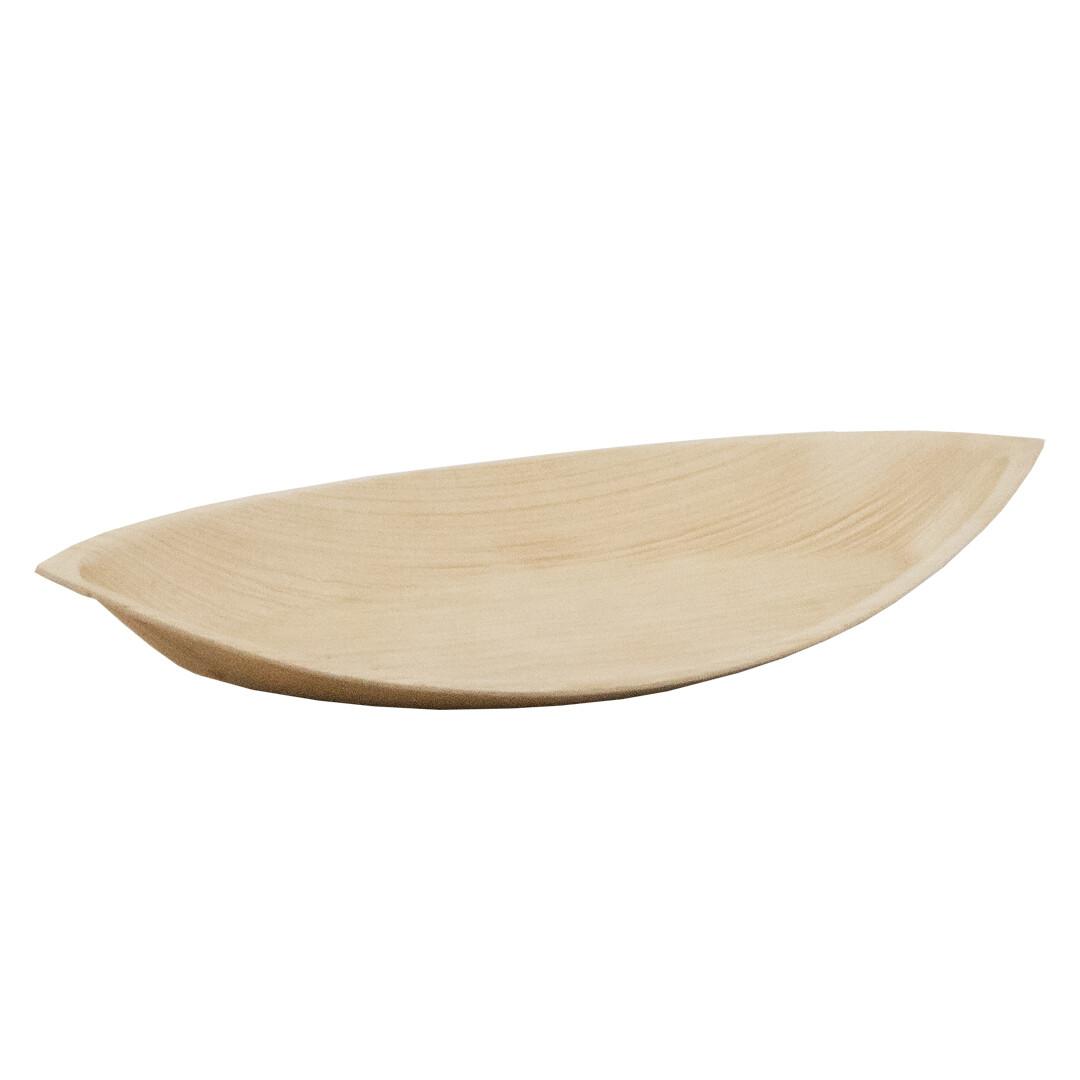 Palmblad bord 'Leaf' 23x12,5x2,3cm Verpakt per 200 stuks