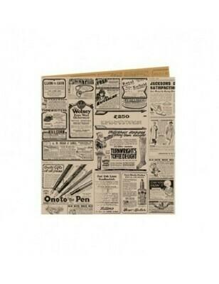 Vetvrij snackzakje bruin krant 16x16,5cm, verpakt per 500 stuks