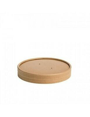 Kraft/PLA deksel voor soepbeker 240ml/360ml Verpakt per 500 stuks