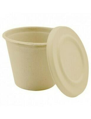 Bagasse soepbeker 425ml/105mm Ø x83mm bruin Verpakt per 50 stuks