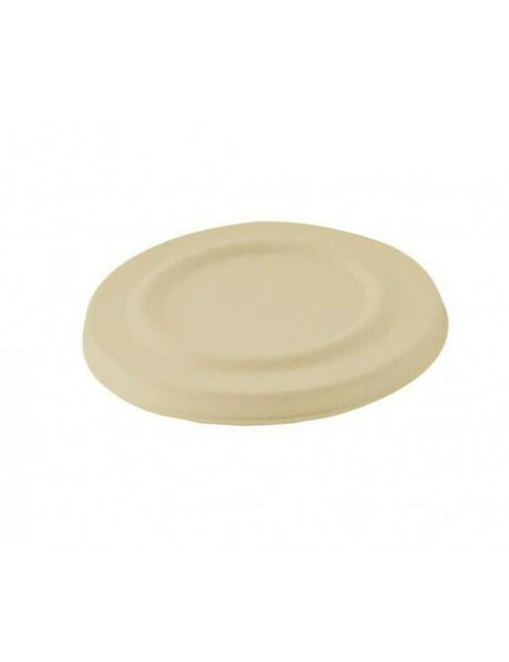 Bagasse deksel voor soepbeker 425ml bruin Verpakt per 50 stuks