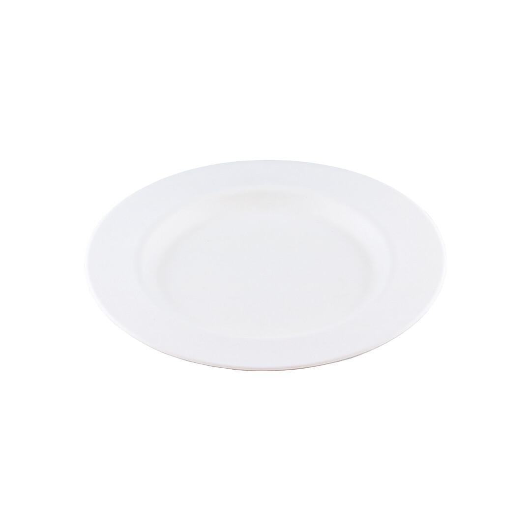 Bagasse bord 18cm Ø Verpakt per 50 stuks